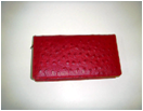 Ostrich Red with Beige women's wallet